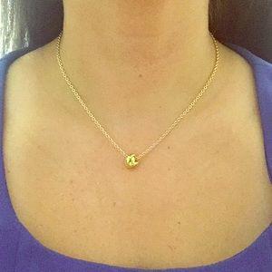 Kate Spade adjustable gold knot necklace